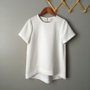 Madewell Tailored Tee in White